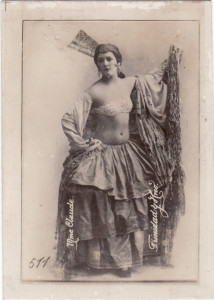 "Trinidad y Hermano cigarette card, ""Mme Claude,"" 1920s, Photograph. Cuba. Private Collection."