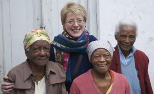 Clockwise from top: the author, Ángela, Zenaida and Olga Calvo Puig. 2014.