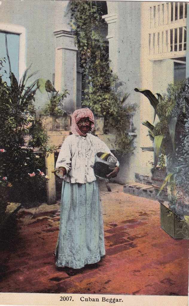 """Cuban Beggar,"" photomechanical postcard. Undated, c. 1904-1912. Printed in the United States."
