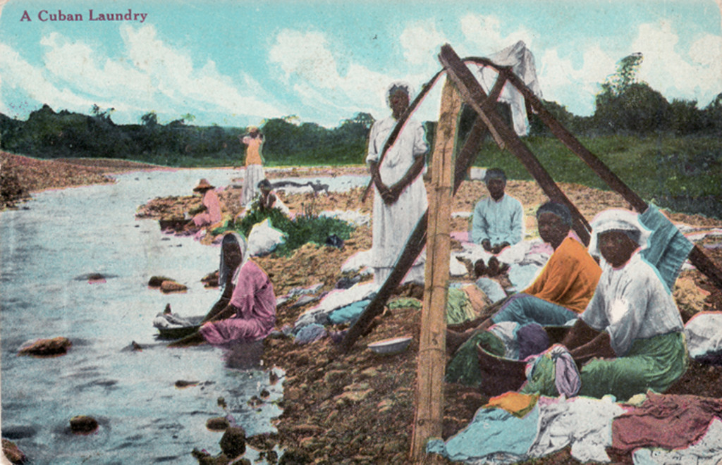"""A Cuban Laundry,"" photomechanical postcard. Dated Feb 19, 1912. Printed in Chattanooga, Tennessee."