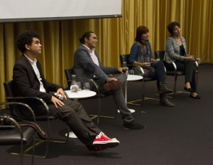 Presenters (from left) Carlos Rodríguez, Orlando Inclán, Patricia Rodríguez, Claudia Castillo