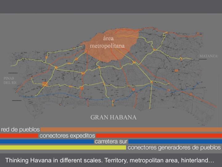 Slide showing Havana as part of a system of interconnected cities (copyright: Habana Regeneración)