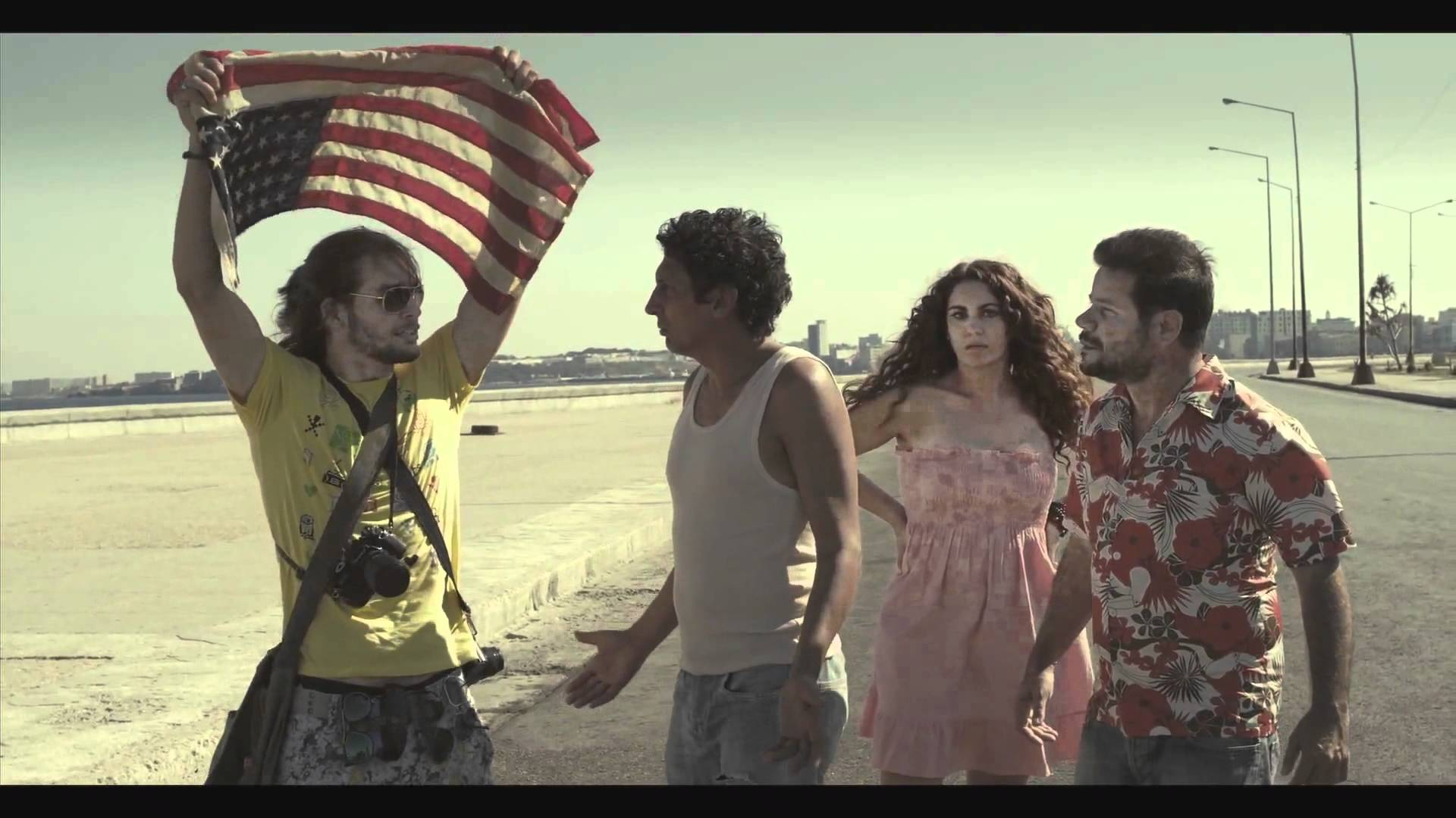 Juan de los M-Malecon Scene w_Amer Flag