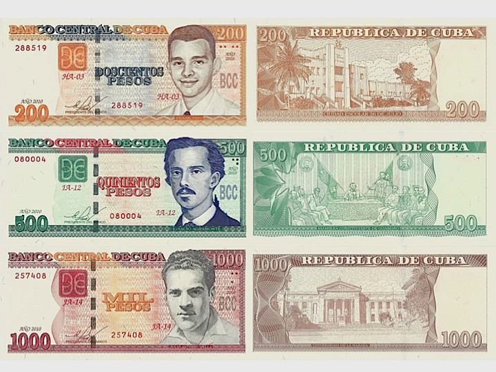Figure 4. New higher denomination Cuban Peso bills