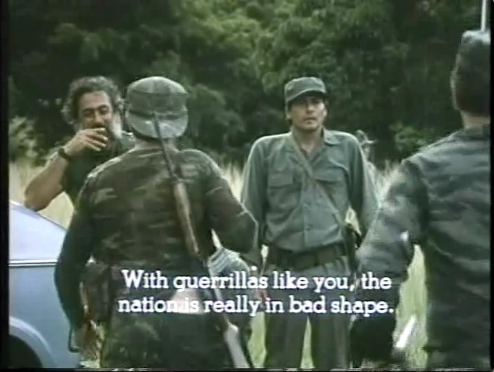 'Con guerrilleros como ustedes la patria está muy jodida.' Film still.