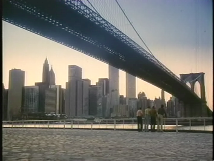 Ramon's friends arriving in New York City (film still)