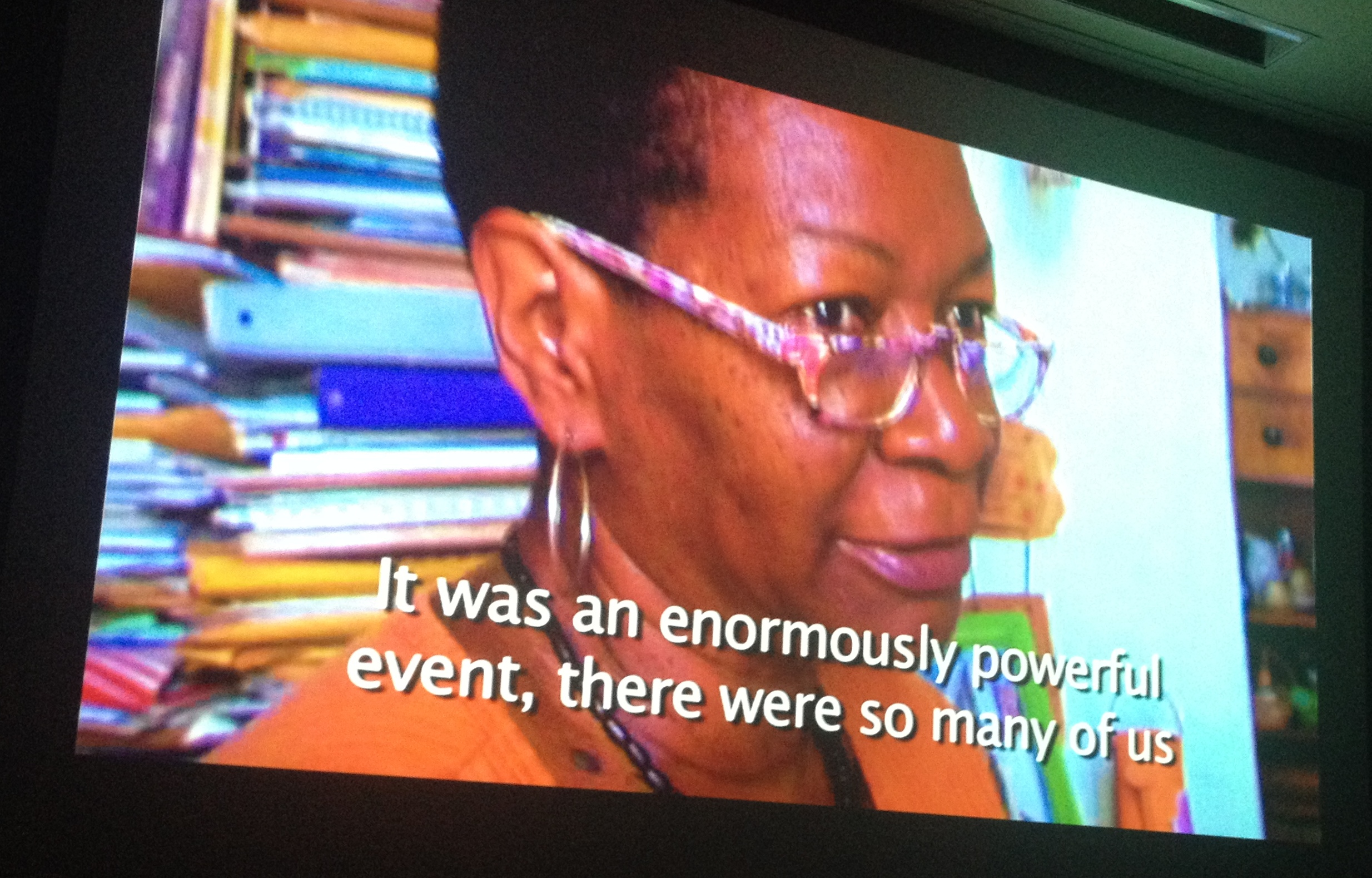 A screenshot of Professor Norma Guillard speaking at Stanford University.