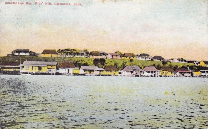 """Guantanamo Bay, Kids' Hill, Caimanera, Cuba."" Postmarked 1911."