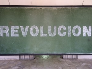 "Frontal view of the  ""Revolución"" piece, by Lidzie Alvisa"